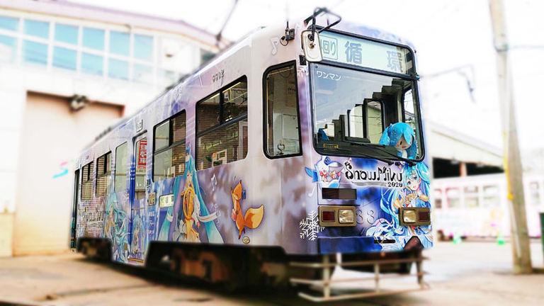 雪ミク電車|北海道の「今」をお届け Domingo -ドミンゴ-