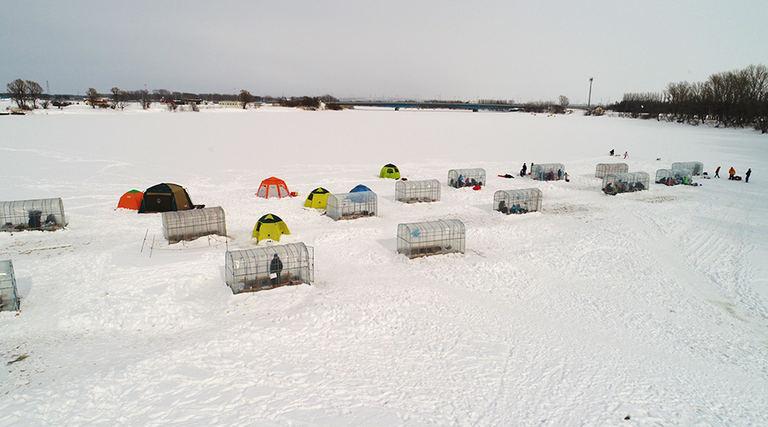 とれた小屋ふじい農場 ワカサギ釣り場|北海道の「今」をお届け Domingo -ドミンゴ-