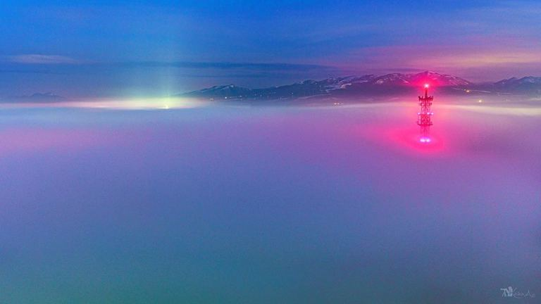 【北海道ミライノート×Domingo】白鳥大橋を飲み込む雲海 など